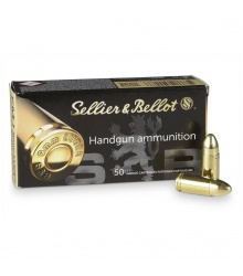 Sellier&Bellot 9mm LUGER FMJ, 8,0g/124grs